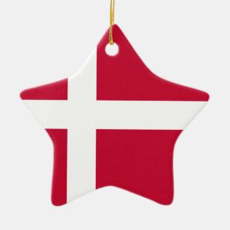 安価! デンマークの旗 セラミックオーナメント