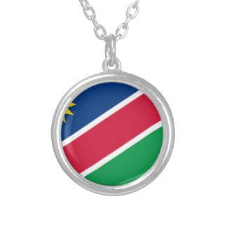 安価! ナミビアの旗 シルバープレートネックレス