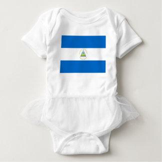 安価! ニカラグアの旗 ベビーボディスーツ