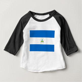 安価! ニカラグアの旗 ベビーTシャツ