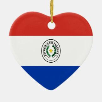 安価! パラグアイの旗 セラミックオーナメント