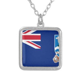 安価! フォークランド諸国の旗 シルバープレートネックレス