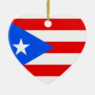 安価! プエルトリコの旗 セラミックオーナメント