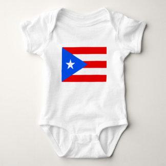安価! プエルトリコの旗 ベビーボディスーツ