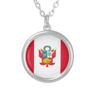 安価! ペルーの旗 シルバープレートネックレス