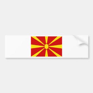 安価! マケドニアの旗 バンパーステッカー