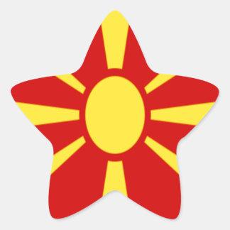 安価! マケドニアの旗 星シール