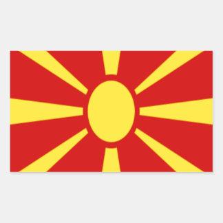 安価! マケドニアの旗 長方形シール