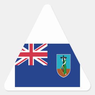 安価! モンセラートの旗 三角形シール