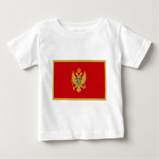 安価! モンテネグロの旗 ベビーTシャツ