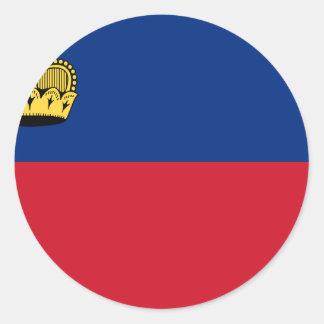 安価! リヒテンシュタインの旗 ラウンドシール