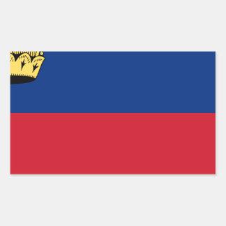 安価! リヒテンシュタインの旗 長方形シール