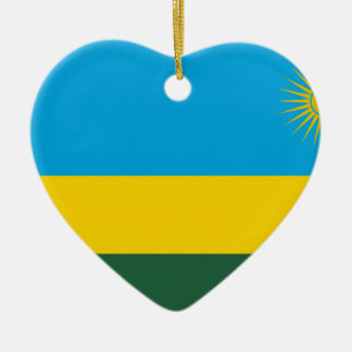 安価! ルワンダの旗 セラミックオーナメント