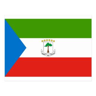 安価! 赤道ギニアの旗 ポストカード