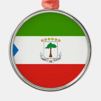 安価! 赤道ギニアの旗 メタルオーナメント