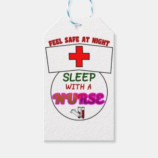 安全な夜睡眠のナース、ナースのワイシャツのためのギフトを感じて下さい ギフトタグ