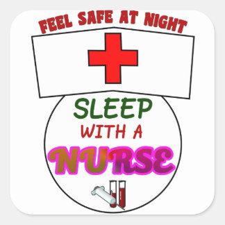 安全な夜睡眠のナース、ナースのワイシャツのためのギフトを感じて下さい スクエアシール