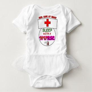 安全な夜睡眠のナース、ナースのワイシャツのためのギフトを感じて下さい ベビーボディスーツ