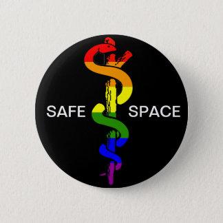 安全な宇宙ボタン 5.7CM 丸型バッジ