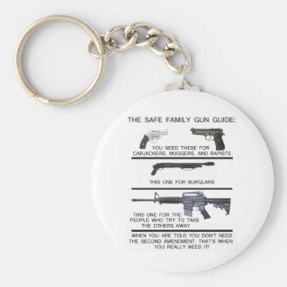安全な家族銃ガイド キーホルダー