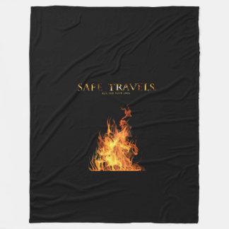 安全な旅行カバーロゴ毛布 フリースブランケット