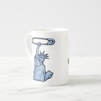 安全な自由及び正義: 1つのコーヒー・マグの両方 ボーンチャイナカップ
