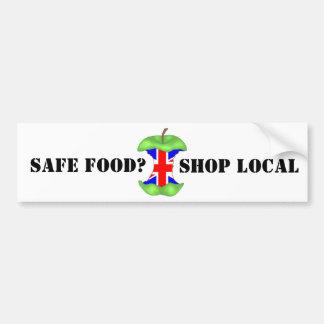 安全な食糧は、ジャッキ地方組合の買物をします バンパーステッカー