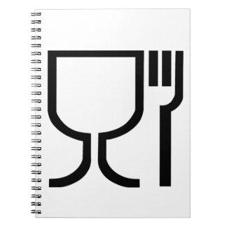 安全な食糧記号 ノートブック