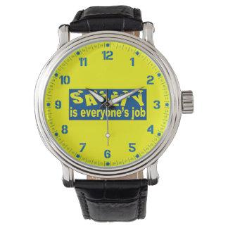 安全は皆仕事のヴィンテージです 腕時計