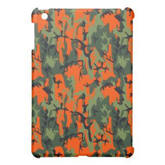 安全オレンジおよび緑の迷彩柄 iPad MINI カバー