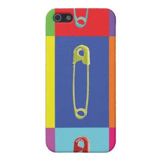 安全ピンのポップアートの場合 iPhone 5 カバー