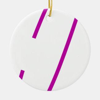 安全ピンの紫色 セラミックオーナメント