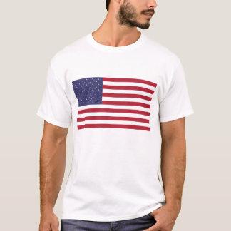 安全ピン米国の旗 Tシャツ