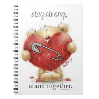 安全ピン-くま-強い滞在。 一緒の立場 ノートブック