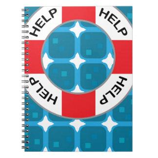 安全ベルトのライフセーバーのベクトル ノートブック