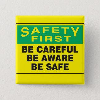 安全第1は、わかっています 5.1CM 正方形バッジ