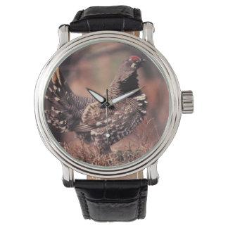 安定させたライチョウ 腕時計