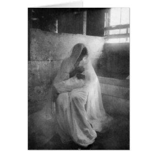 安定した挨拶状のイエス・キリストを握っているメリー カード