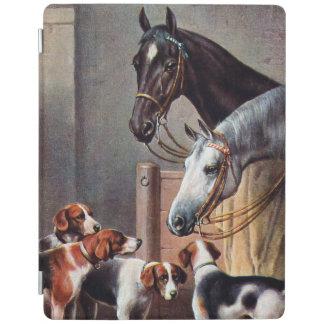 安定したiPadカバーの馬そして猟犬 iPadスマートカバー