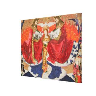 完了するヴァージンの即位1454年 キャンバスプリント