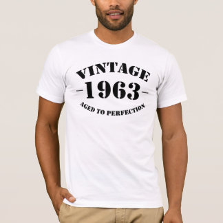 完全さに老化するヴィンテージ1963の誕生日 Tシャツ