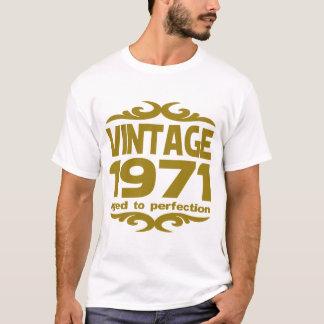 完全さに老化するヴィンテージ1971 Tシャツ
