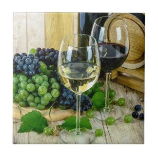 完全さに老化する上質ワイン 正方形タイル小