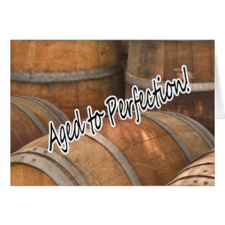 完全さのワインバレルのヴィンテージセラーに老化させる カード