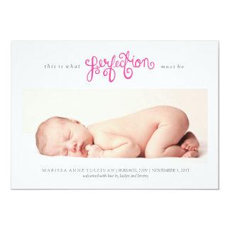 完全さの誕生の発表-ツツジ--はあるなります カード
