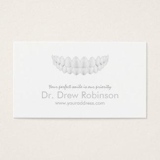 完全で白いスマイルのシンプルで白い歯科カード 名刺