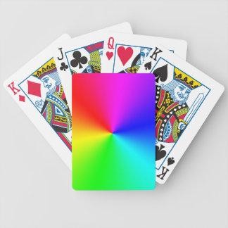 完全なスペクトルの虹 バイスクルトランプ