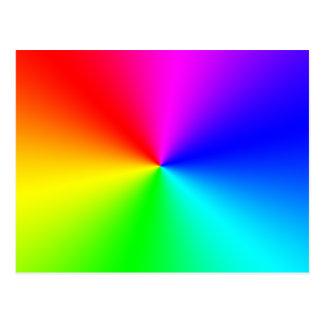完全なスペクトルの虹 ポストカード