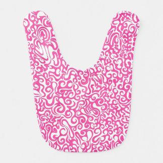 完全なピンクの渦巻のよだれかけ ベビービブ