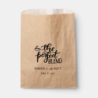 完全なブレンドの素朴なクラフト紙の結婚式の引き出物 フェイバーバッグ